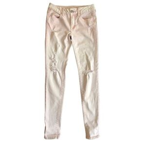 AEO pink distressed jeggings